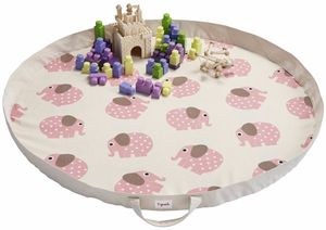 3 Sprouts Play Mat Bag - Elephant Pink
