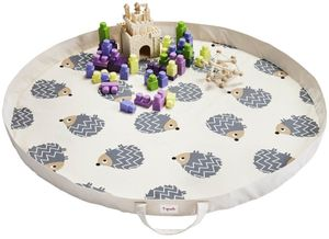 3 Sprouts Play Mat Bag - Hedgehod Gray