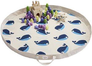 3 Sprouts Play Mat Bag - Whale Blue