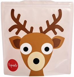3 Sprouts Sandwich Bag, 2 Pack - Deer