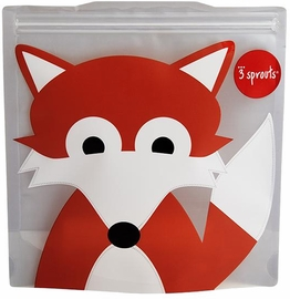 3 Sprouts Sandwich Bag, 2 Pack - Fox
