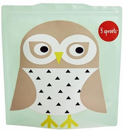 3 Sprouts Sandwich Bag, 2 Pack - Owl
