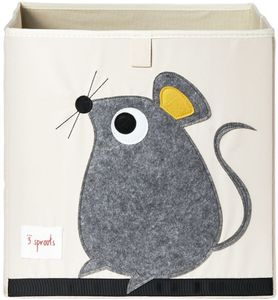 3 Sprouts Storage Box - Mouse Gray