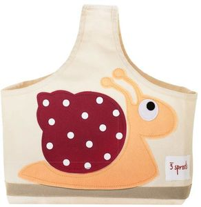 3 Sprouts Storage Caddy - Red Snail