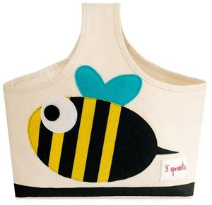 3 Sprouts Storage Caddy - Yellow & Black Bee