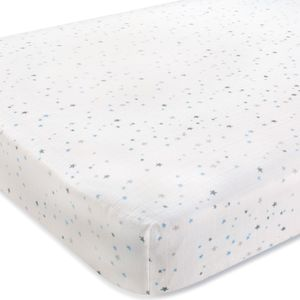 Aden + Anais Classic Crib Sheet - Night Sky - Starburst