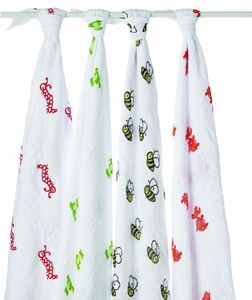 Aden + Anais Classic Swaddle Wraps, 4 Pack - Mad About Baby