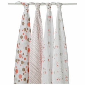Aden + Anais 100% Cotton Muslin Swaddle Wrap-4 Pack - Star Light