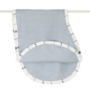 Aden + Anais Bamboo Burpy Bib - Moonlight, Solid Grey