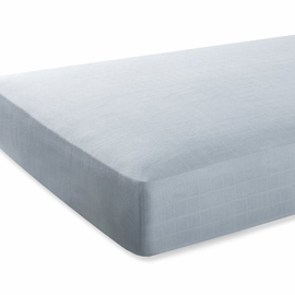 Aden + Anais Bamboo Crib Sheet - Moonlight, Solid Grey
