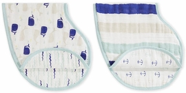Aden + Anais Burpy Bibs, 2 Pack - High Seas