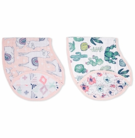 Aden + Anais Burpy Bibs, 2 Pack - Trail Blooms