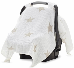 Aden + Anais Car Seat Canopy - Super Star Scout