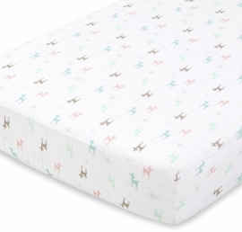 Aden + Anais Classic Crib Sheet - Camp Girl
