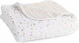 Aden + Anais Classic Dream Blanket - Metallic Gold