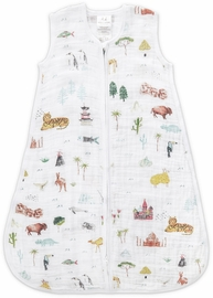 Aden + Anais Classic Sleeping Bag - Around the World - Small