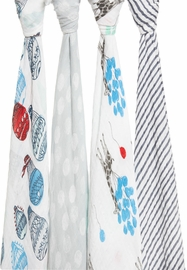 Aden + Anais Classic Swaddle Wraps, 4 Pack - Dream Ride
