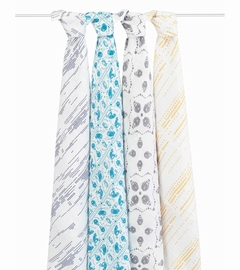 Aden + Anais Classic Swaddle Wraps, 4 Pack - Kindred
