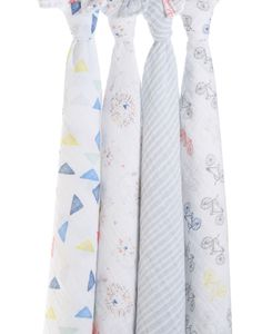 Aden + Anais Classic Swaddle Wraps, 4 Pack - Leader of the Pack