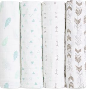 Aden + Anais Classic Swaddle Wraps, 4 Pack - Outdoorsy
