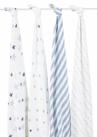 Aden + Anais Classic Swaddle Wraps, 4 Pack - Rock Star