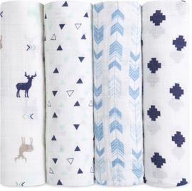 Aden + Anais Classic Swaddle Wraps, 4 Pack - Scout