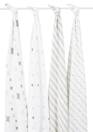 Aden + Anais Classic Swaddle Wraps, 4 Pack - Shine On