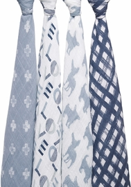 Aden + Anais Classic Swaddle Wraps, 4 Pack - Waverly