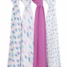 Aden + Anais Classic Swaddle Wraps, 4 Pack - Wink