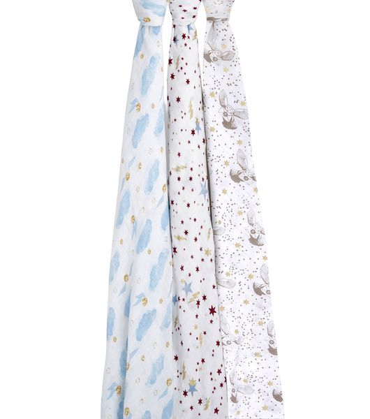 Aden + Anais Classic Swaddle Wraps, 3-Pack - Harry Potter
