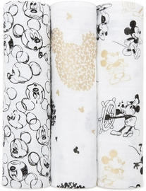 Aden + Anais Classic Swaddle Wraps, 3-Pack - Mickey's 90th