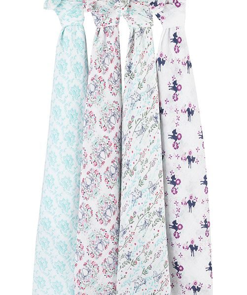 Aden + Anais Disney Baby Classic Swaddle Wrap, 4 Pack - Bambi