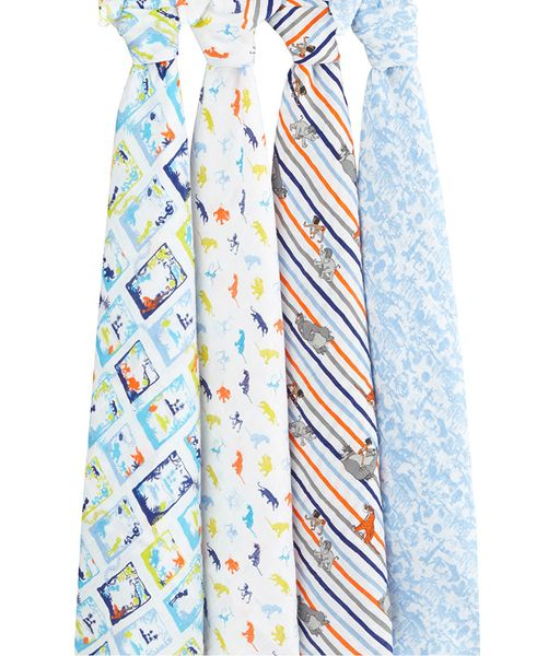 Aden + Anais Disney Baby Classic Swaddle Wrap, 4 Pack - The Jungle Book