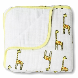Aden + Anais Classic Dream Blanket - Jungle Jam - Giraffe + White