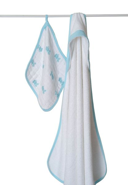 Aden + Anais Hooded Towel Set - Hide and Sea