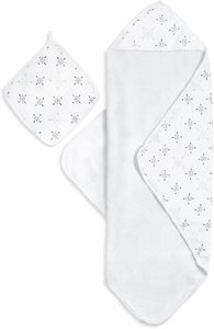 Aden + Anais Muslin-Backed Hooded Towel Set - Lovestruck