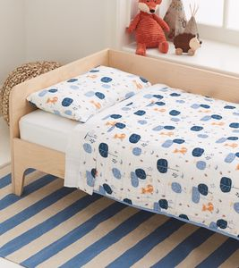 Aden + Anais Organic Toddler Bedding Set - Into the Woods, Foxy
