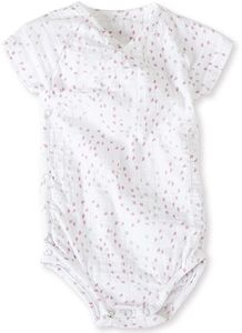 Aden + Anais Short Sleeve Kimono Body Suit - Lovely Mini Hearts (0-3 Months)