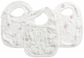 Aden + Anais Silky Soft Snap Bibs, 3 Pack - Featherlight