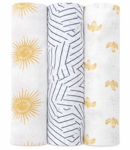 Aden + Anais Silky Soft Swaddle - 3 Pack - Golden Sun