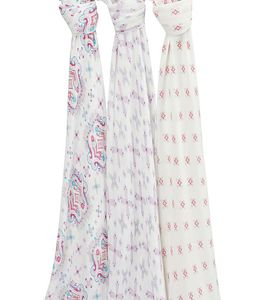 Aden + Anais Silky Soft Swaddles - 3-Pack - Flower Child