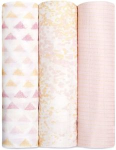 Aden + Anais Silky Soft Swaddles - 3-Pack - Metallic Primrose Birch