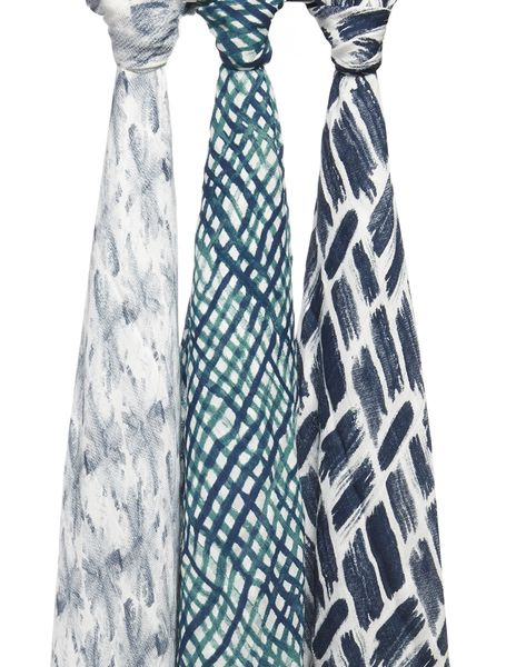 Aden + Anais Silky Soft Swaddles - 3-Pack - Seaport