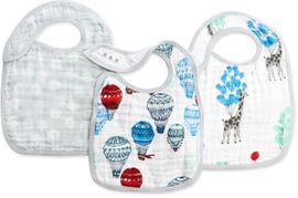 Aden + Anais Snap Bibs, 3 Pack - Dream Ride
