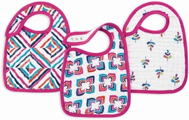 Aden + Anais Snap Bibs, 3 Pack - Flip-Side