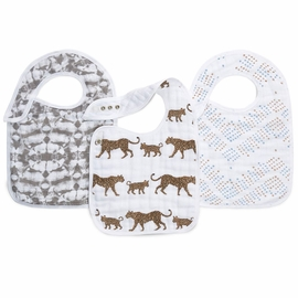 Aden + Anais Snap Bibs, 3 Pack - Hear Me Roar