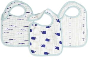 Aden + Anais Snap Bibs, 3 Pack - High Seas