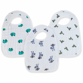 Aden + Anais Snap Bibs, 3 Pack - Jungle Jam