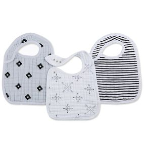 Aden + Anais Snap Bibs, 3 Pack - Lovestruck