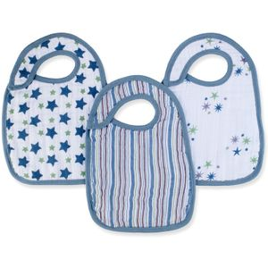 Aden + Anais Snap Bibs, 3 Pack - Prince Charming
